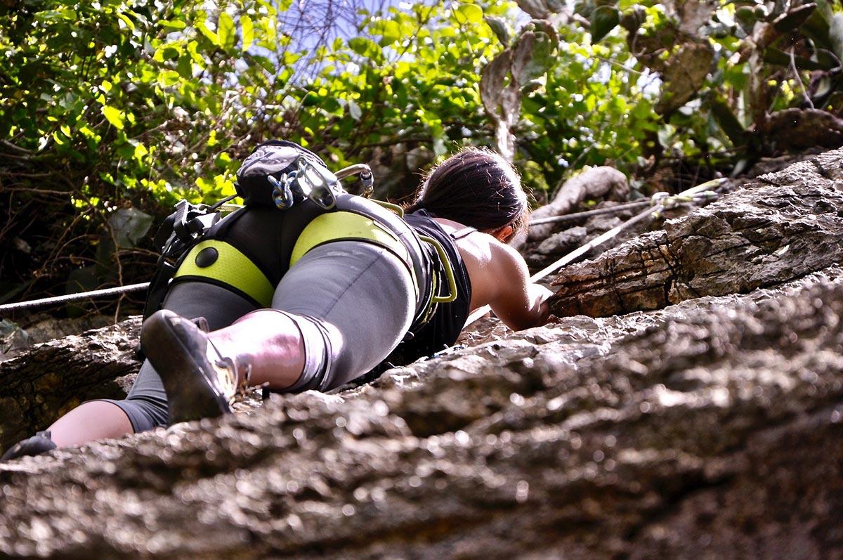 klatrer i fjellvegg